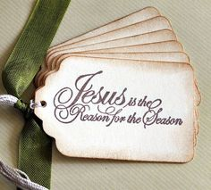 Vintage Inspired Christmas Gift Tags Christmas Tags Holiday Tags Jesus Sentiment Tags Noel Tags Set of 8. $5.50, via Etsy.