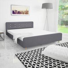 vidaXL Rám postele, 160x200 cm, textilné čalúnenie, bledošedý