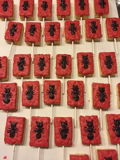 Rice Krispies chocolate covered ant man treats