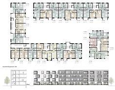 1. Rang: Grundriss OG1 + Schnitt/Ansicht, © Dietrich | Untertrifaller Architekten