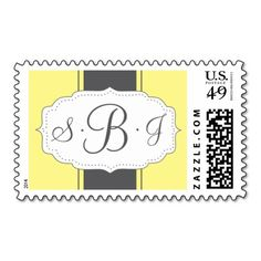 Monogram Postage in Yellow and Gray Yes I can say you are on right site we just collected best shopping store that haveDeals          	Monogram Postage in Yellow and Gray lowest price Fast Shipping and save your money Now!!...