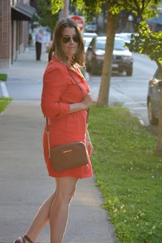 Closets & Corks: coral and cognac
