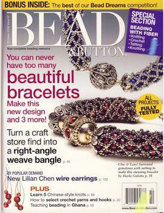 Lo Scrigno dei Segreti: Bead and Button June-Oct 2008 Seed Bead Bracelets, Seed Bead Jewelry, Diy Jewelry, Jewelry Making, Beading Techniques, Beading Tutorials, Beading Ideas, Diy Jewellery Designs, Jewelry Design
