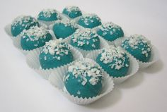 @Maggie Buchanan - almost easier than making them...    But then again, one could always do the oreo balls in blue dyed chocolate.