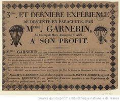 3ème et dernière expérience de descente en parachute par Melle Garnerin, Au Champ de Mars, Dimanche 21 Avril, à son profit 1816