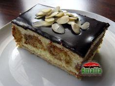 Cremes_frantuzesc_0 Romanian Food, Romanian Recipes, Dessert Recipes, Desserts, Tiramisu, Yummy Food, Sweets, Homemade, Eat