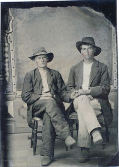 Vintage photo - Gay couple in the late 1800's in America...