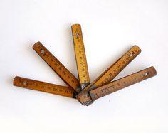 Vintage Folding Ruler from Etsy