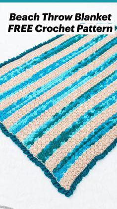Crochet Blocks, Crochet Borders, Free Crochet, Crochet Ripple Afghan, Afghan Crochet Patterns, Double Crochet, Single Crochet, Crochet Afgans, Chrochet