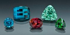 Faceted Maine Tourmaline Gemstones from Mount Marie