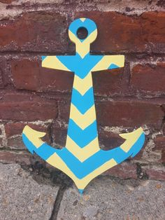 chevron painted anchor... bathroom, maybe