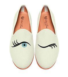 Slipper loafers blinking eye