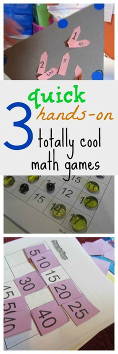 3 quick, hands-on, totally cool math games for kids . . . How do YOU keep math fun? #coolmathgames #mathgames #math