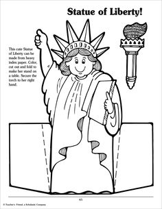 Spectacular Statue Of Liberty Uncle Sam Photo Cutout with Statue with Uncle Sam Coloring Pages Kindergarten Social Studies, Social Studies Activities, Student Teaching, Preschool Lessons, Kindergarten Activities, Preschool Activities, National Symbols, American Symbols, Patriotic Crafts