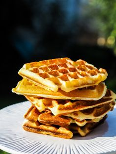 pâte à gaufres Biscuits, Beignets, Flan, Deserts, Brunch, Food And Drink, Nutrition, Baking, Breakfast