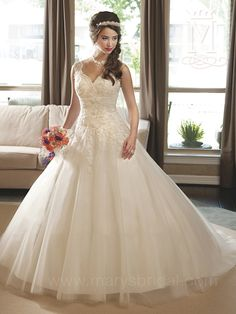 Discover the best and unique wedding Dresses from Mary's bridal collection. Choose your dream bridal wedding dresses from the wide variety of styles, fabrics, necklines, silhouettes and many more. Mary's Bridal, Bridal Style, Bridal Gowns, Tulle Ball Gown, Ball Gowns, Klienfeld Wedding Dresses, Gown Wedding, Ivory Wedding, Quinceanera