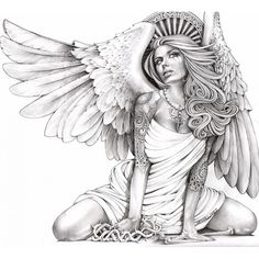 angel tattoos crying | Crying Angel by Mouse Lopez Tattoo Art Canvas Fine Art Print