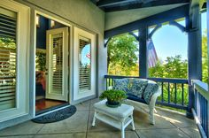 Adorable old-fashioned porch at my new listing in Newbury Park.