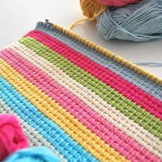 Watch This Video Beauteous Finished Make Crochet Look Like Knitting (the Waistcoat Stitch) Ideas. Amazing Make Crochet Look Like Knitting (the Waistcoat Stitch) Ideas. Crochet Afghans, Tunisian Crochet Stitches, Tapestry Crochet, Knit Or Crochet, Learn To Crochet, Crochet Crafts, Crochet Projects, Crochet Blankets, Stitch Patterns