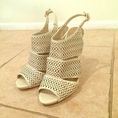 BCBGeneration heels! White heels for any occasion BCBGeneration Shoes Heels