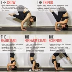 Inversions. These are SO hard. Need to learn how to do all of these. Yoga Fitness, Fitness Workouts, Sport Fitness, Fitness Tips, Health Fitness, Fitness Shirts, Fitness Quotes, Health Diet, Health Care