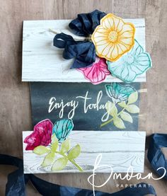 Enjoy Today… Oh So Eclectic, Peek a Boo, Stamping Up, Climbing Orchid