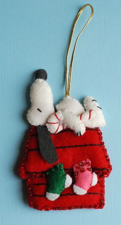 Snoopy Felt Ornaments. Etsy. I made these same ornaments in the 80's. Still have the set of 3. They were my daughters favorites.