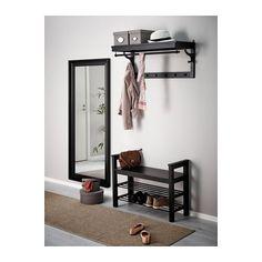 HEMNES Espejo - negro-marrón - IKEA