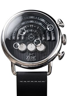The Xeric Halograph Chrono Black/Silver Watch - The Newest Watch from Xeric Watches