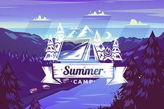 Summer camp typography design by Krol on Creative Market