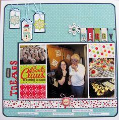 """Christmas Treats"" scrapbook layout by Erika Hayes for Creating Keepsakes magazine. #scrapbook #scrapbooking #creatingkeepsakes"
