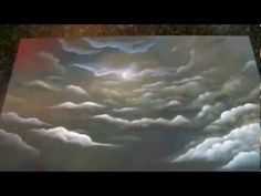 How to paint a surreal fantasy landscape and clouds with acrylics by artist Philippe Fernandez
