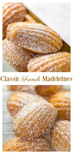 I'm teaching you exactly how to make Classic French Madeleines! They taste just like the ones you'd find in a Parisian boulangerie! These Classic French Madeleines are light, fluffy, and so good with a cup of tea! Madeleine Recipe, Cookie Recipes, Dessert Recipes, Cake Tasting, Mets, Macaron, Cheap Meals, Biscuits, Breakfast Recipes