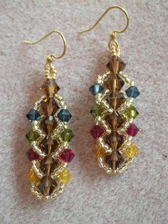 Flat Spiral Stitch Earrings