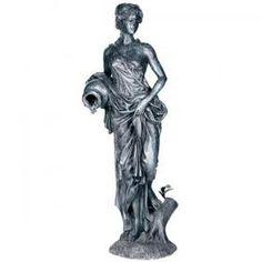 #Roman #Goddess #statue in #Bronze #fountain #waterfeature #luxury #art #decor  http://randolphrose.com/product/roman-goddess
