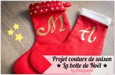 Tuto couture gratuit : les bottes de Noël enfant