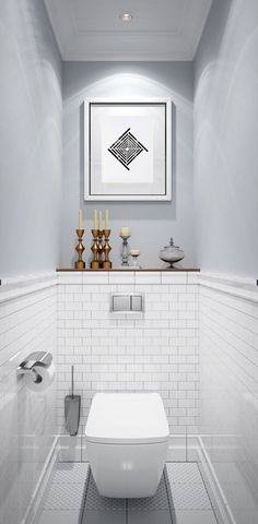 Ideas For Bathroom Shower Rustic Toilets Small Downstairs Toilet, Small Toilet Room, Guest Toilet, Bathroom Design Small, Bathroom Interior Design, Small Narrow Bathroom, Minimalist Small Bathrooms, Small Toilet Design, Bad Inspiration
