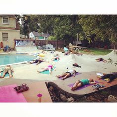 Moments with Sunday, yoga by the pool, via sam_guh