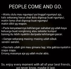 People come and go...