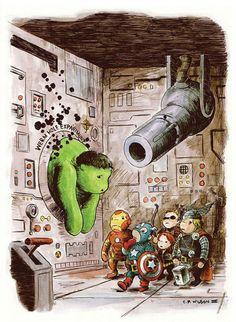 The Avengers Meet Winnie The Pooh – Mashup Illustrations | By Charles Paul Wilson III
