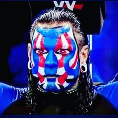 awesome face paint on Jeff Hardy Face Paint, Wwe Jeff Hardy, Wrestling Superstars, Photo And Video, World, Awesome, Painting, Fictional Characters, Instagram