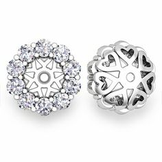 These are so on my wish list!! Custom Halo Diamond and Gemstone Earring Jackets are the perfect way to jazz up your gemstone stud earrings!