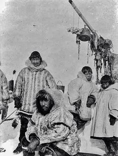 Men in Cape Prince of Wales, Alaska, 1906