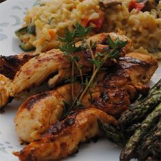 Chicken tenders get a flavor boost from fresh lemon and thyme. They are great as a main course or served on top of a big salad. Turkey Recipes, New Recipes, Cooking Recipes, Basil Recipes, Favorite Recipes, Fish Recipes, Baked Chicken Nuggets, Chicken Tenders, Recipes