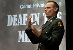 TED Talk - Deaf in the Military. I must watch this and find out what TED has on this one :) Deaf in the military-BS Asl Sign Language, American Sign Language, Libra, Asl Videos, Military Rule, Deaf Children, Deaf People, Asl Signs, Persuasive Essays