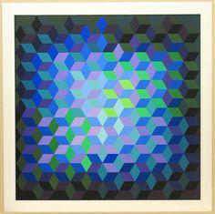 MoMA | The Collection | Victor Vasarely. Hommage to the Hexagon (Hommage À La Hexagone). 1969