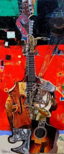 George Pali: Instrumental Music 3, Oil on canvas