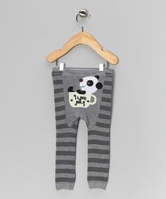 Take a look at this Gray Stripe 'I Like Milk' Leggings - Infant & Toddler by Penny & Tillie on #zulily today!
