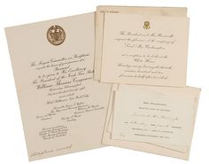 Cowan's Auctions: Two FDR White House Invitations