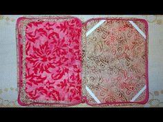 Capa para tablet em tecidos batik - Maria Adna Ateliê - Aula de capa par...